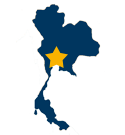 Map icon showing the approximate location of Bangkok, Thailand.