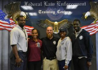 FLETC Instructor Terry Page with the Royal Bahamian Police Force at the conclusion of training, Oct. 18, Glynco, Georgia. (FLETC PCO/ Cori Knight)