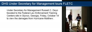 DHS Under Secretary for Management tours FLETC